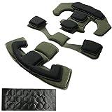 Almohadillas tácticas para casco de repuesto universal, con espuma viscoelástica interna para casco ACH MICH Team Wendy FMA EXF (negro y verde)