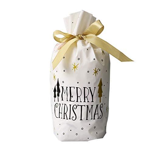 VOSAREA Bolso Hermoso del Caramelo del Bolso del Embalaje del Regalo de la Navidad de 50 PC con la Cinta de Seda para el Festival de la Navidad
