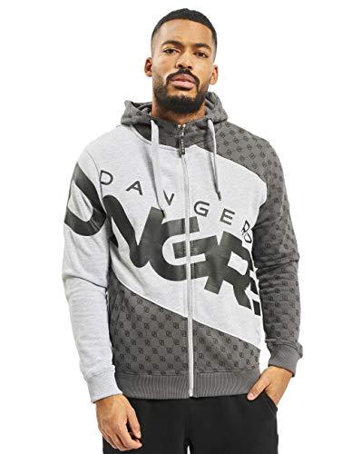 Dangerous DNGRS Big Logo Herren Kapuzenjacke Kapuzen Sweat-Jacke Zip Hoodie grau 2XL