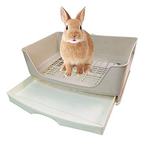 kathson Large Rabbit Litter Box Trainer, Potty Corner Toilet...