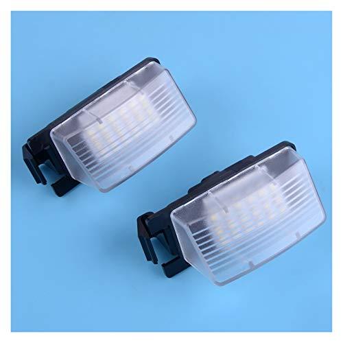 Luces de matrícula de Coche 2 unids 12V Número de Coche Láminas LED Lámpara Luz Fit Compatible con Nissan 350Z 370Z GTR Infiniti G35 G37 G25 3MA 3W 6000K-7000K Universal