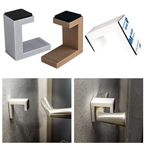 Türhalter Wand Türstopper für Türen und Fenster Türaufhalter selbstklebend ohne bohren Türpuffer Wand Schutz (Weiß)
