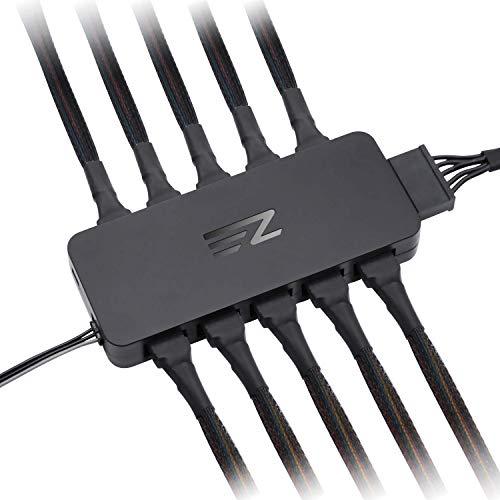 EZDIY-FAB 10 puertos PWM, divisor para ventiladores de 4 pines y 3 pines, solo utiliza un cabezal M/B