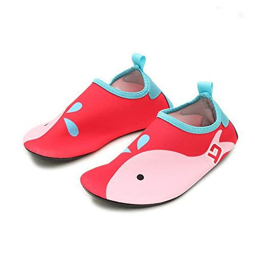 Zwemschoenen antislip schoenen met zachte bodem volwassenen kinderen strandsokken schoenen duiken snorkelschoenen mannen en vrouwen sneldrogende zwemschoenen 34-35 Schuhe Länge 20,4 cm rood