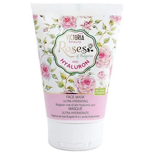 Victoria Beauty – Gesichtsmaske mit Rosenöl und Hyaluronsäure – spendet intensiv Feuchtigkeit...
