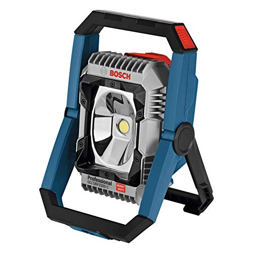 Bosch Professional GLI 18V-2200 C Foco de obra, 2200 lúmenes, sin batería, en caja, 18 V, Azul