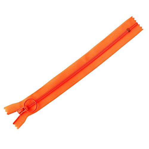 日本紐釦貿易 ネオンスケルトンファスナー オレンジ 25cm 同色5本 SKF25-N3 [2734]