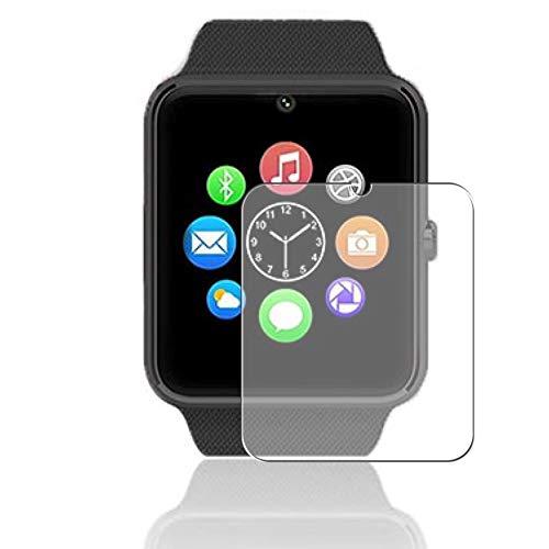 Vaxson 3 Stück Schutzfolie, kompatibel mit Smartwatch smart watch GT08, Displayschutzfolie Bildschirmschutz Blasenfreies TPU Folie [nicht Panzerglas]