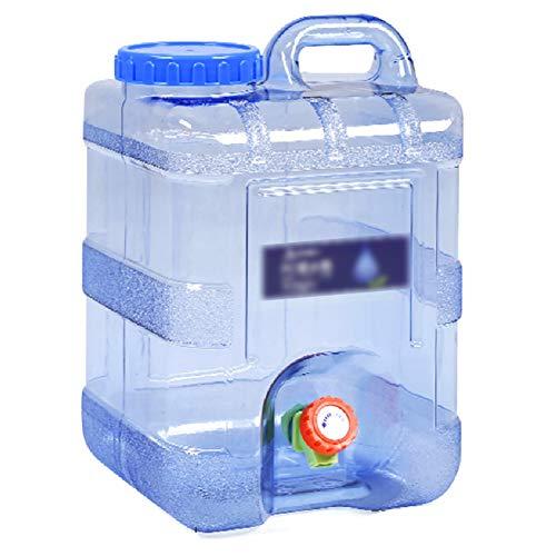 MNSSRN Cubo de Agua al Aire Libre con Grifo Rectangular PC portátil PC de plástico Montado en el hogar Cubo de Almacenamiento de Agua Puro Tanque de Almacenamiento de Agua,20L