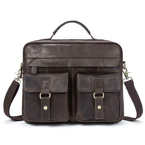 QSGNR aktetas mannen aktetas werk/kantoor tassen voor mannen echt leer messenger laptoptas lederen zakelijke aktentas tas tas voor documenten