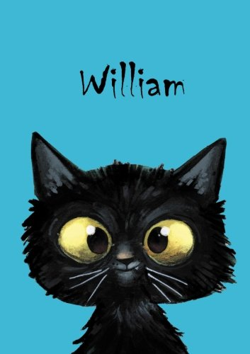 William - Coloring Book / Notebook / Diary - DIN A5 - cat – blank