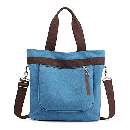 Blingstars Fashion Tote Bag, Draagbare Casual Messenger Canvas Tas, Verbetering Handtas Verpakking Tassen, 3 Modellen Kleurentas Blingstars Blauw