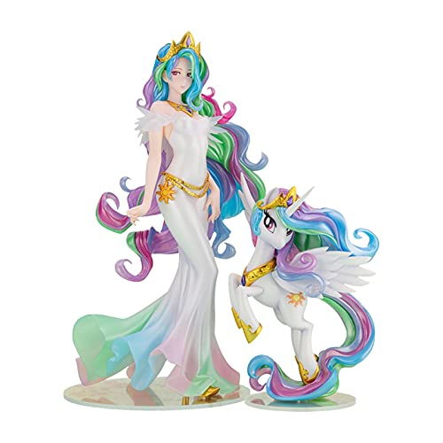 LIANGLMY Figur Vorverkauf Kotobukiya My Little Pony Princess Celestia Schöne Mädchen Statue Anime Charakter Desktop Dekoration Sammlerstücke Modell (Color : 23.5cm, Size : 60 Days Extension)
