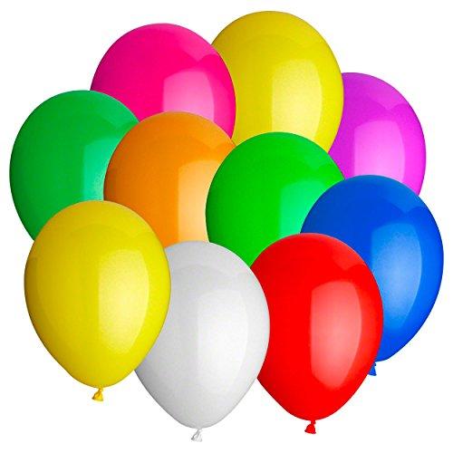 Sport-Tec Luftballons Ballon Hochzeit Party Deko Jahrmarkt Schießballons 100 STK, 15 cm