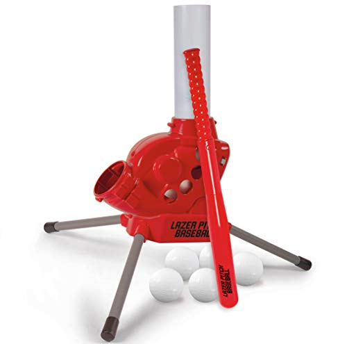 Diggin Lazer Pitch Radio Control Baseball Pitching Machine. Kids Batting Practice Throwing Trainer (10007)