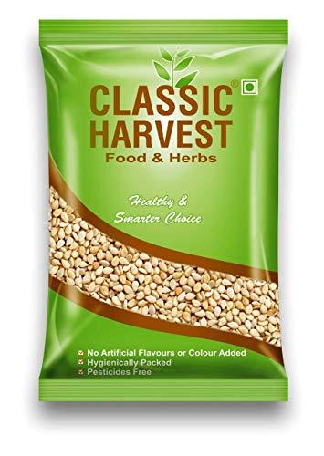 CLASSIC HARVEST Roasted White Sesame Seeds ( Pure Safed Til / White Til ) Handpicked Clean 500g
