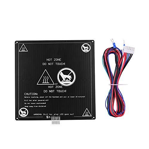 Aibecy lit chauffant imprimante 3d 12v en aluminium 220 x 220 x 3 mm avec câble métallique pour imprimante 3D Anet A8 A6