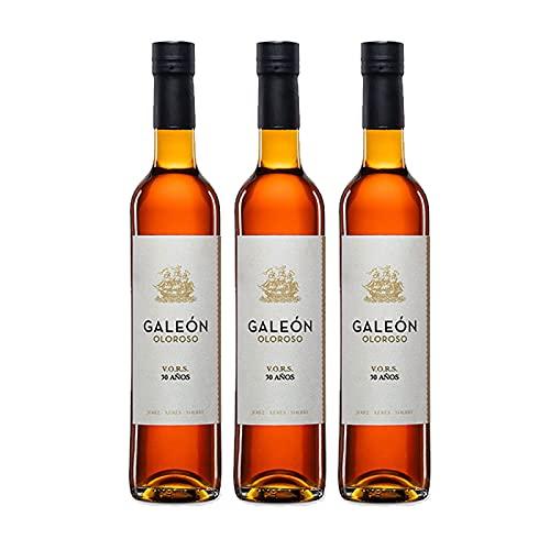 Vino Oloroso Galeon de 50 cl - D.O. Jerez-Sherry - Bodegas Barrero (Pack de 3 botellas)