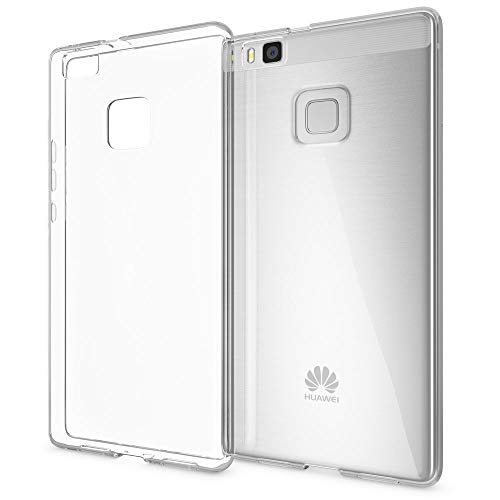 NALIA Handyhülle kompatibel mit Huawei P9 Lite 2016, Slim Silikon Motiv Case Cover Hülle Crystal Schutzhülle Dünn Durchsichtig, Handy-Tasche Schale Thin Back-Cover Smart-Phone Bumper - Transparent