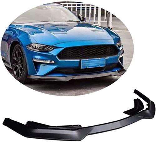 HYCy Borde del Parachoques Delantero para Ford Mustang GT Coupe Cabrio 2018-2020 Protector Divisor de alerón de mentón PP de Polipropileno Negro Mate