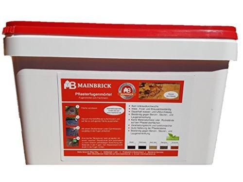 Mainbrick Pflasterfugenmörtel Fix-Fertig Fugenmörtel Terracotta 20 kg - Kein Unkraut, Wasserdurchlässig,
