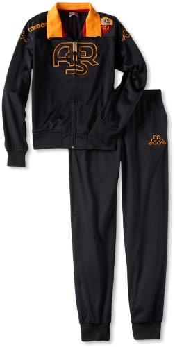 Kappa AS Rom Trainingsanzug Kinder, Farbe:Schwarz, Kinder Größen:140