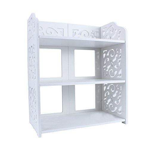 AYNEFY Zapatero blanco grande, de pie, estilo minimalista, con tres capas, para dormitorio, salón, pasillo
