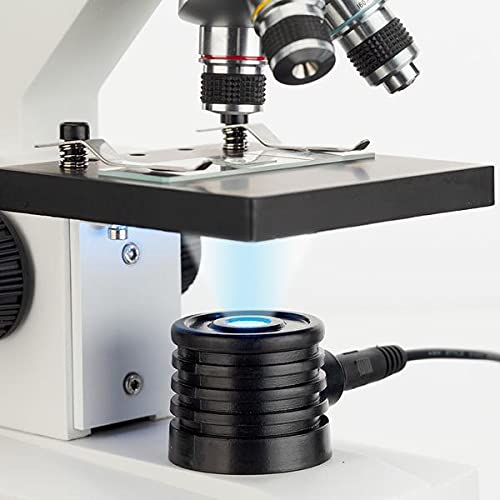 AmScope - M102C-PB10 40X-1000X Biological Compound Microscope with Prepared and Blank Slides for Student and Kids