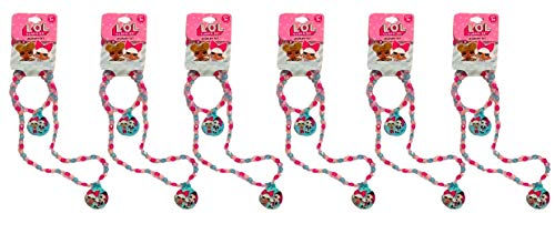 L.O.L. Surprise! Party Favor Set of 6 Beaded Necklaces & Bracelet Jewelry Sets for Girls (Blue Charms)