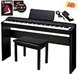 Casio Privia PX-160 Digital Piano - Black Bundle with CS-67 Stand, Deluxe Sustain Pedal, Furniture Bench, Instructional Book, Online Lessons, Austin...