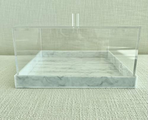 SARA BASSAN Acrylic Display Box - Clear Bread Box for Kitchen - Reusable Bakery Box Square (10in x 10in)