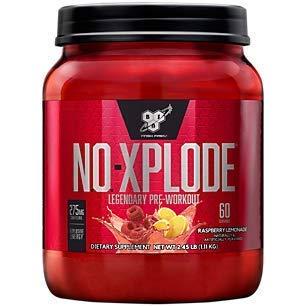 Suplemento de pre-entrenamiento BSN N.O.-XPLODE con creatina, beta-alanina y energía, sabor: limonada de frambuesa, 60 porciones. Explosive Energy encendedor de pre-entrenamiento