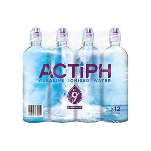 Alkaline Ionised Spring Water pH9+ (12x 600ml) Purified with Electrolytes...