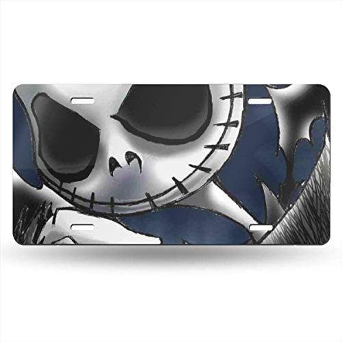 Suzanne Betty Aluminum License Plates - Cool Jack Skellington License Plate Tag Car Accessories 12 X 6 Inches