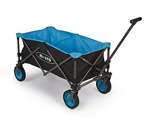 Micro Wagon, Carro de transporte plegable, Ruedas neumáticas giro 360º, Todoterreno, playa, jardín, montaña