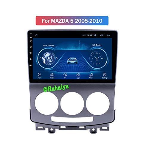Hesolo Car Radio Stereo 9 Pulgadas Android 8.1 MP5 Player Navigator Compatible con Mazda 5 (2005-2010), GPS 2.5D Pantalla táctil Completa, Bluetooth, WiFi, SWC, Mirror Link (2G + 32G)