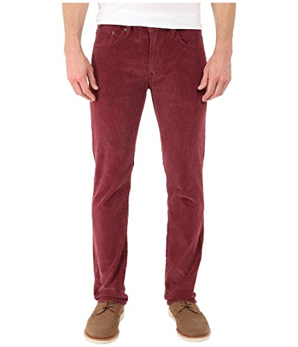 Levi's Men's 511 Slim Fit Cord, Merlot/Corduroy, 34 32