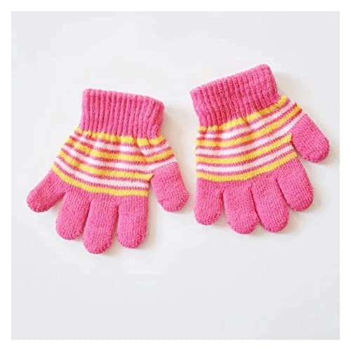 Guantes de invierno Niños invierno caliente espesos guantes niñas niños niños lindo mitones imitación guantes de dedo completo para 1-5y al por mayor guantes de moto mujer invierno ( Color : C )