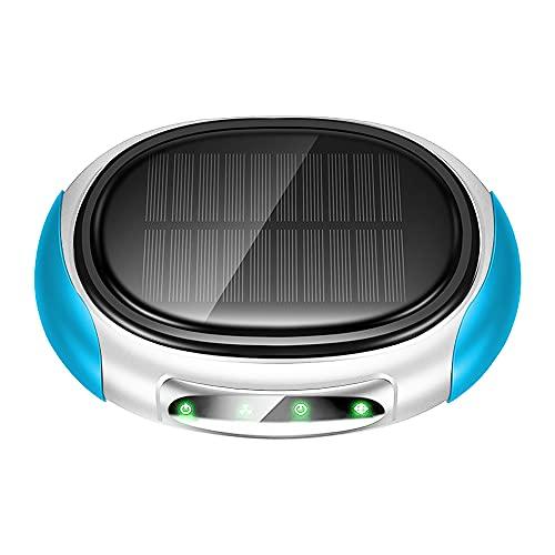 AZHA Il depuratore d'Aria della Macchina Solare ha Uno Strato di Filtro Garza e Un Livello di Filtro in Alluminio vaporizzato per Ottenere Un Effetto di purificazione Efficace. (Blu)