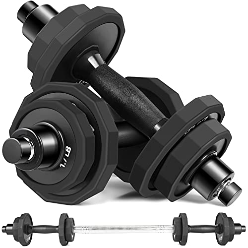 KISS GOLD 44Lbs/66Lbs Dumbbells Set, Adjustable Weights Steel Dumbbells Pair for Adults Home Fitness...