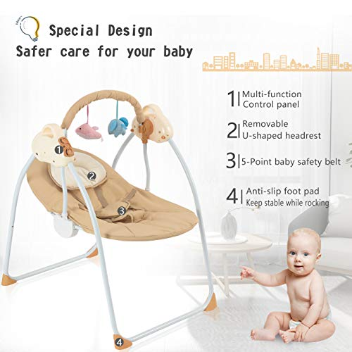 41E9BRWE5lL 10 Best Portable Baby Swings on the Market 2021 Review