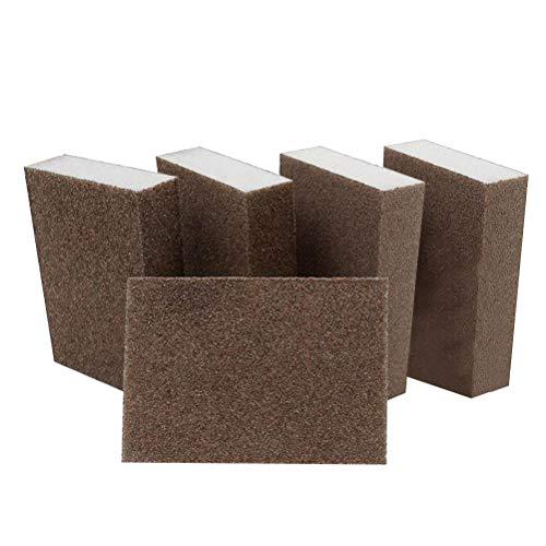 Artibetter 5er Schleifschwamm waschbar und wiederverwendbar für Möbelwand Bodenschleifen Küchenreinigung Handwerkzeug