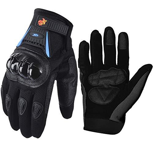Street Bike Full Finger Motorcycle Gloves 09 (Large, black/blue) - http://coolthings.us