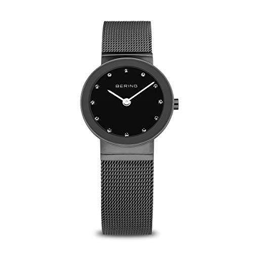 Bering Damen Analog Quarz Armbanduhr mit Edelstahl Armband 10126-077