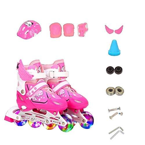 Skates Jongens Meisjes Kinderen Mannen Vrouwen Inline Roller 3-10 Jaar Oude Beginners Flash Ademende Verstelbare Quad laarzen