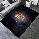 AMON LL AlfombrasColecciones de fútbol Alfombras, Cálido Moderno de Barcelona Impreso Multi Floor Mat,E,100×160cm