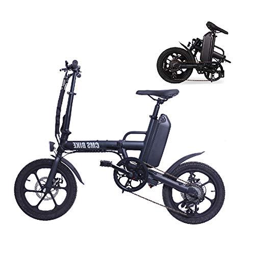 ZQNHXY Bicicleta eléctrica, Urban Plegable de cercanías E-Bici, Velocidad máxima 25 kmh,...