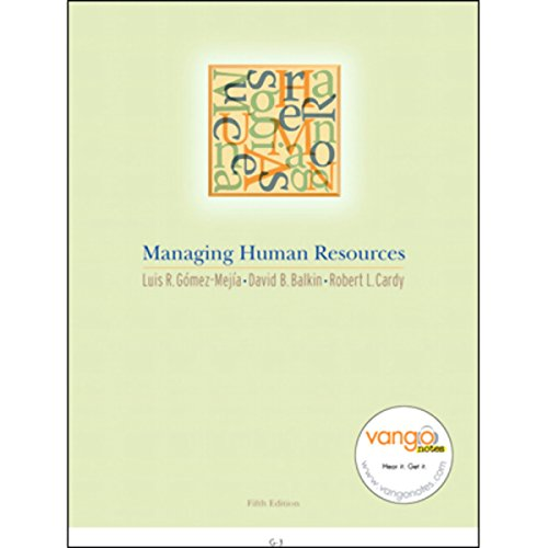 VangoNotes for Managing Human Resources, 5/e cover art