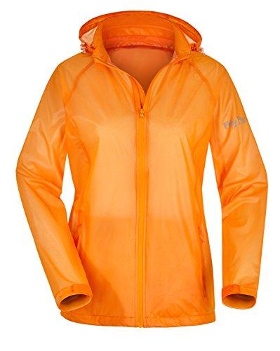 Fifty Five Leichte Damen Regenjacke Sportjacke Marla Orange 42 Funktionsjacke Winddicht Wasserdicht Atmungsaktiv
