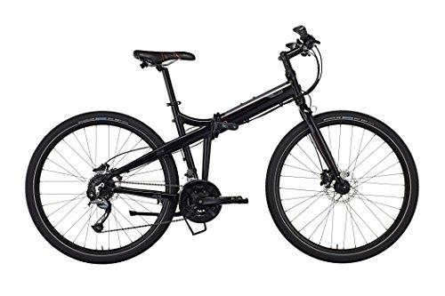 Tern Unisex fiets Joe P27 vouwfiets, zwart rood, 27 versnellingen, 27